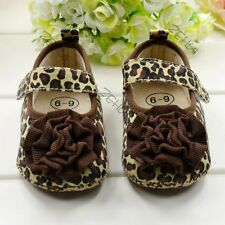 Toddler Child Kid Leopard Style Soft Sole Crib Shoes Baby Girl Walking Shoes B93