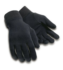 TOURMASTER Fleece Motorcycle Glove Liners (Black) Choose Size