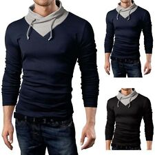 Mens Casual Slim Fit Turtleneck Long Sleeve Jumper Sweater Pullover Knit Tops