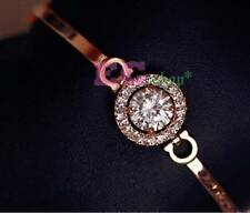 18k rose Gold GP Austrian Crystal lady bangle diamond bracelet BT16a