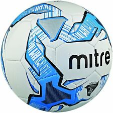 MITRE IMPEL TRAINING FOOTBALL - WHITE/BLUE - SIZES 3, 4 & 5