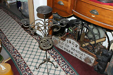 Superb Gothic Medieval Metal Floor Standing Candle Holder-Holds 3 Candles-LQQK