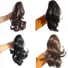 Womens Lady Hairpiece Short Wavy Curly Claw Ponytail Clip-on Hair Extensions M12
