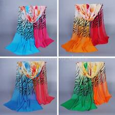 Women's Lady Chiffon Floral Scarf Soft Wrap Long Shawl Girls Scarves Stole 4S4I