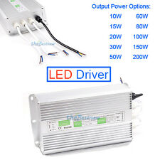 12V LED Driver Transformern IP67 Waterproof LED Power Supply Adapter 10W-200W