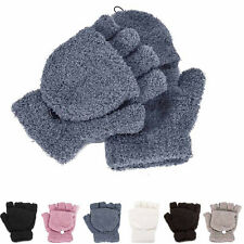 New Winter Girls Womens Ladies Hand Wrist Warmer Winter Fingerless Gloves Mitten
