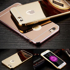 Luxury Aluminum Metal Frame Case Mirror Back Case Cover For iPhone 5S 6 6S Plus