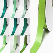 "Wholesale 100 Yards Double Faced Satin Ribbon 3/8"" / 9mm.Lime to green"