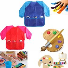 """Children Kids Craft Apron For Painting Waterproof Smock Sleeve 17.3""""x21.65"""" WxH"""