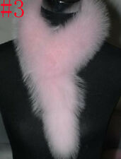 Hot sell Multi Color Real Fox Fur Scarf Shawls Wraps Vest Scarves Cape Warm pink