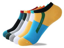 Mens Ankle Socks Low Cut Crew Casual Sport Color Cotton Socks 1 Pairs SP