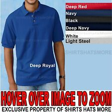 HANES Mens Solid Color 100% Preshrunk Cotton Pique Polo Shirt Golf S,M,L,XL NEW!