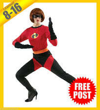 Ladies Costume Fancy Dress Up RD Disney Mrs Incredible The Incredibles Sz 8-16