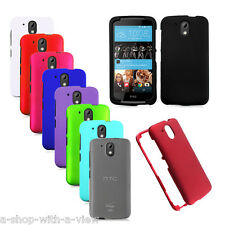 Multicolor Hard Rubberized Rigid Snap On Phone Cover Case for HTC Desire 526