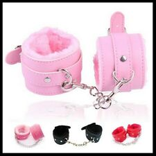 Soft Leather Handcuffs Hand Ring Restraints Bondage Fetish Sex Toys ankle cuffs