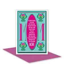 Mom Mum Happy Birthday card for mother art nouveau edit message from daughter