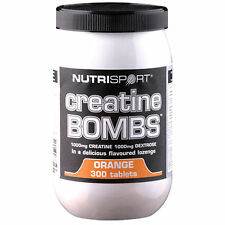 Nutrisport Creatine Bombs 300 Tablets 1000mg Chewable Monohydrate Sweets Muscle