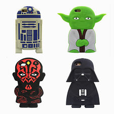 3D Cartoon star wars extraterrestrial alien robot Soft silicone case For Iphone