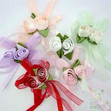 Mixed Satin Organza Ribbon Flower Handmade Craft Embellish DIY Gift Packing