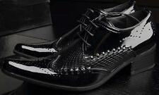 Mens Wing Tips Pointy Toe Lace Up Designer Formal Casuals Business Wedding Shoes