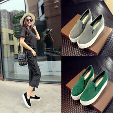 New Womens Fashion Slip On Flat Platform Loafer Moccasin Oxfords Casual Shoes