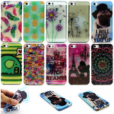 For Mobile Phone Ultra Thin Colorful Painted Soft TPU Silicone Back Case Cover