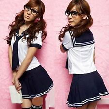 Japanese School Girl Cosplay Sailor Uniform Outfit Fancy Dress Babydoll Costume