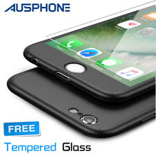 Hybrid 360° Tempered Glass + Acrylic Hard Case Cover Skin For iPhone 6 & 6S