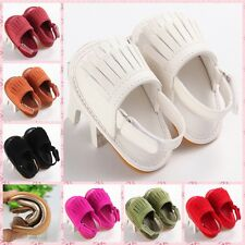 2016Adorable Baby Soft Sole suede/Leather Shoes Infant Toddler Moccasin 0-18m#GT