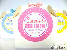 PERSONALISED BABY SHOWER GIFT BOX - POLKA DOT PARTY FAVOUR PAPER
