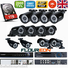 CCTV 4CH/8CH 720P AHD DVR Outdoor 2000TVL 1.3MP Camera Security System 1TB HDD