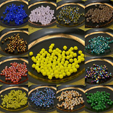 Wholesale 100-1000pcs 4mm  Glass crystal 5301# Bicone Beads U Pick color