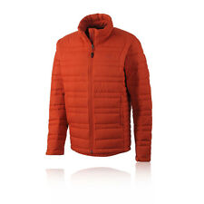 Adidas Hiking Light Down Mens Orange Long Sleeve Warm Outdoors Zip Jacket Top