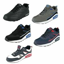 MENS AIR TECH WALKING RUNNING LACE UP CASUAL SHOES TRAINERS LEGACY