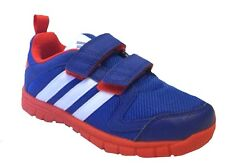 Adidas Infants STA FLUID COMFORT Trainers M25491 Navy/white Velcro 5k-9.5k kids