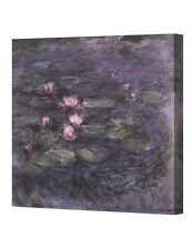 DecorArts Water Lilies in Giverny by Claude Monet Giclee Print Stretched Canvas