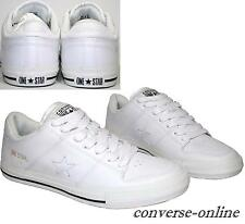 RARE Men CONVERSE All Star ONE STAR SKATE WHITE LEATHER Trainers Shoes SIZE UK 8