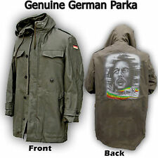GENUINE GERMAN PARKA ARMY MILITARY LINED JACKET ORIGINAL COAT BOB MARLEY PRINT