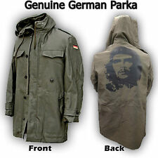 GENUINE GERMAN PARKA ARMY MILITARY LINED JACKET ORIGINAL COAT CHE GUEVARA PRINT