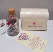 PERSONALISED MOTHERS MUM MOTHER'S DAY MESSAGE IN A BOTTLE CARD GIFT PRESENT