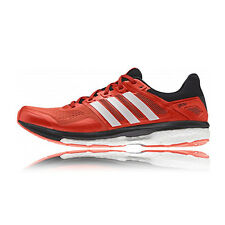Adidas Supernova Glide Boost 8 Mens Orange Sneakers Running Shoes Trainers