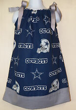 Girls Dallas Cowboys Pillowcase Dress Sizes 4 to 10  *NEW HANDMADE*