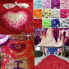 1000pcs Various Colors Silk Flower Rose Petals Wedding Party Decoration<<5x5cm>>
