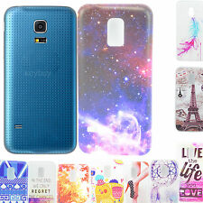 Snap-on Shell  Tpu Holdster Back Soft Skin Case Cover For Samsung Galaxy S5 Mini
