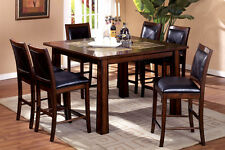 Kitchen Dining Room 7pc Counter Height Dining Set Dining Table Chairs Furniture