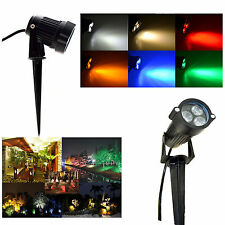 Outdoor LED 9 w IP65 Flood Lights Garden Yard landscape 6 Colors Spot Lamp Bulb