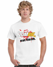Zombie Eat Flesh Unisex T-Shirt Funny Walking Parody Halloween Multiple Colours