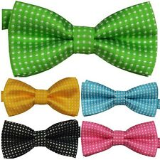 Candy Color Kids Boys Pre Tied Party Wedding Tuxedo Bow Tie Gentleman Necktie