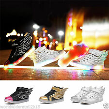 Wings Children Sneakers Sequined Kids Light Shoes Boys Girls Luminous Led Shoes