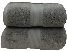 Gray Plush Cotton Bath Sheets (Pair)